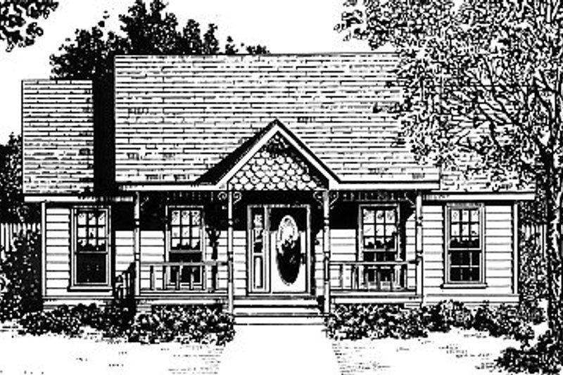 Architectural House Design - Country Exterior - Front Elevation Plan #14-153