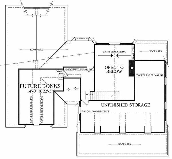 Country Floor Plan - Upper Floor Plan Plan #137-198