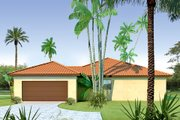 Mediterranean Style House Plan - 3 Beds 2 Baths 1845 Sq/Ft Plan #80-113 Exterior - Other Elevation