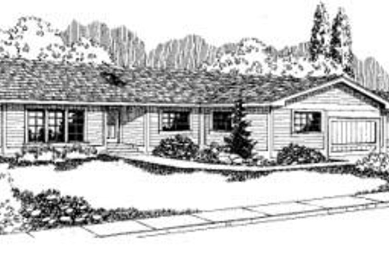 Ranch Exterior - Front Elevation Plan #60-317