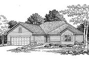 Traditional Style House Plan - 2 Beds 2 Baths 1381 Sq/Ft Plan #70-122 Exterior - Front Elevation