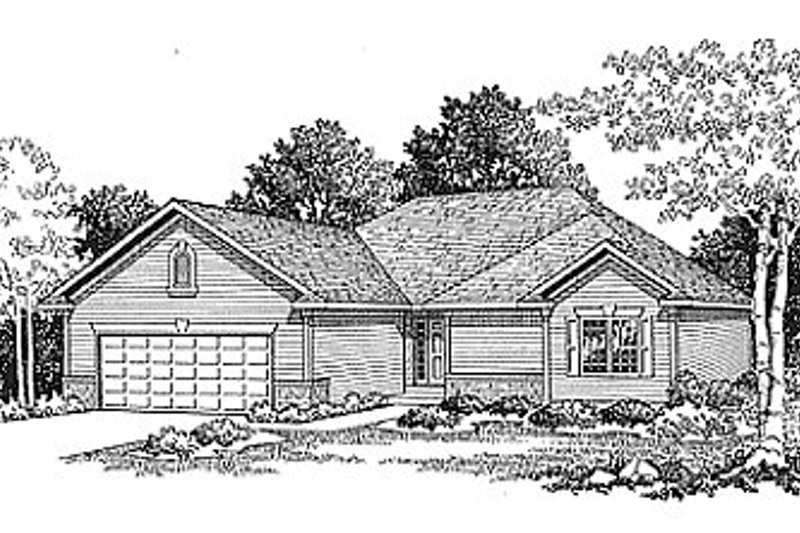 Traditional Exterior - Front Elevation Plan #70-122