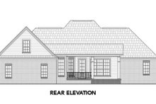 Southern Exterior - Rear Elevation Plan #21-305
