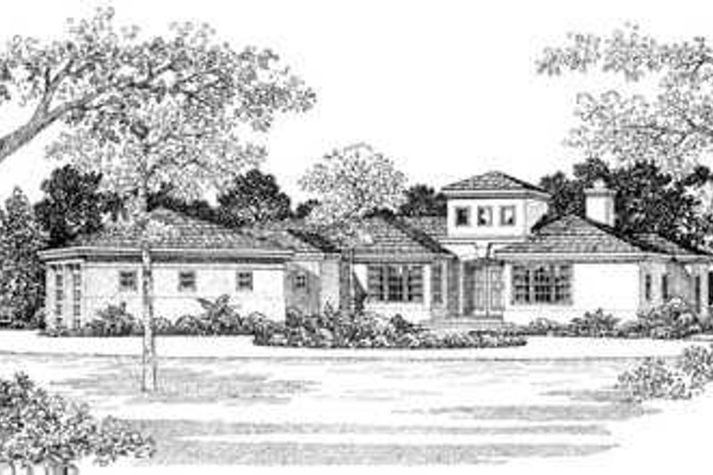European Exterior - Front Elevation Plan #72-130