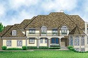Traditional Style House Plan - 5 Beds 4 Baths 4467 Sq/Ft Plan #67-136 Exterior - Front Elevation