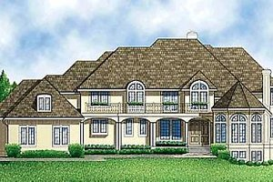 Traditional Exterior - Front Elevation Plan #67-136