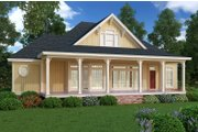 Cottage Style House Plan - 2 Beds 2 Baths 1516 Sq/Ft Plan #45-368 Exterior - Rear Elevation