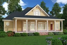 Home Plan - Cottage design, beach style, rear elevation