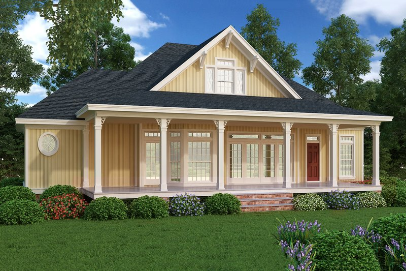 Cottage design, beach style, rear elevation