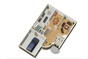 European Style House Plan - 4 Beds 2 Baths 2922 Sq/Ft Plan #25-4477 Floor Plan - Main Floor Plan