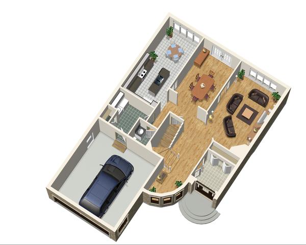 European Floor Plan - Main Floor Plan Plan #25-4477