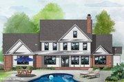 Farmhouse Style House Plan - 5 Beds 4.5 Baths 4164 Sq/Ft Plan #929-1113 Exterior - Rear Elevation