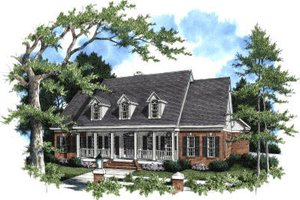 Home Plan - Traditional Exterior - Front Elevation Plan #37-107
