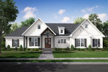 Dream House Plan - Farmhouse Exterior - Front Elevation Plan #430-233