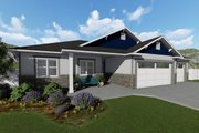 Ranch Style House Plan - 3 Beds 2 Baths 1493 Sq/Ft Plan #1060-39 Exterior - Front Elevation