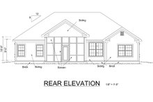 Home Plan - Traditional Exterior - Rear Elevation Plan #513-2047