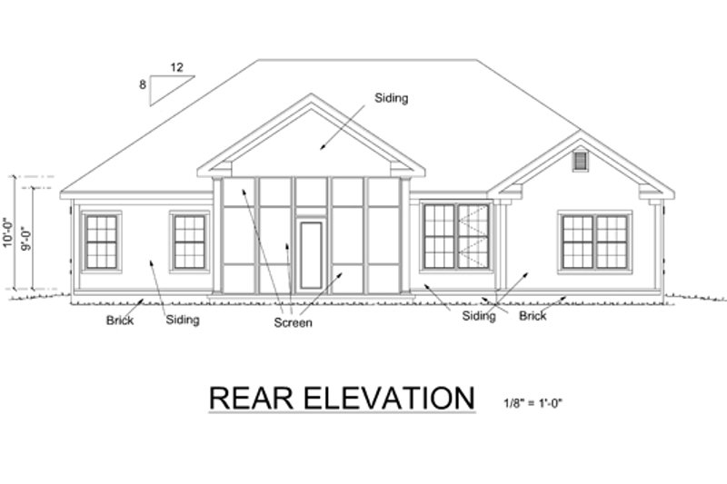Traditional Exterior - Rear Elevation Plan #513-2047 - Houseplans.com