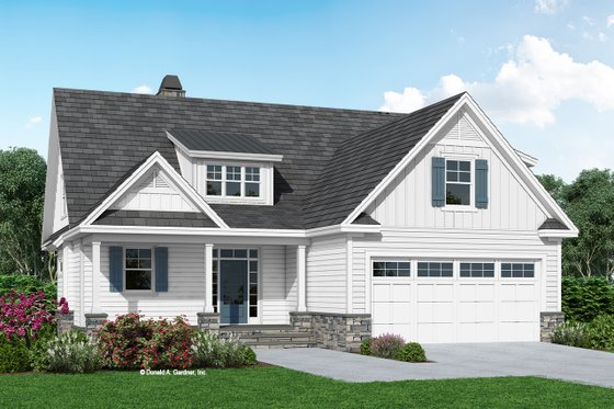 Farmhouse Exterior - Front Elevation Plan #929-1124