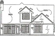 Traditional Style House Plan - 3 Beds 2.5 Baths 2000 Sq/Ft Plan #40-133 Exterior - Rear Elevation