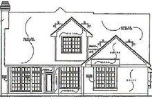Traditional Exterior - Rear Elevation Plan #40-133
