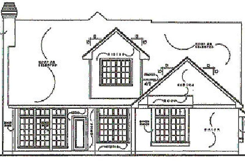 Traditional Exterior - Rear Elevation Plan #40-133 - Houseplans.com