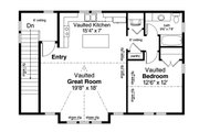 European Style House Plan - 1 Beds 1 Baths 1710 Sq/Ft Plan #124-1037 Floor Plan - Upper Floor