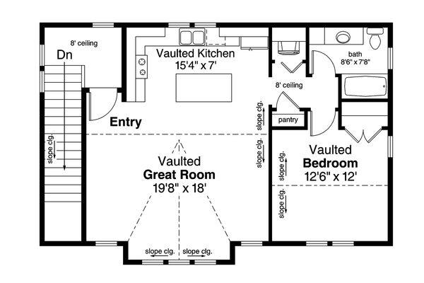 European Floor Plan - Upper Floor Plan Plan #124-1037