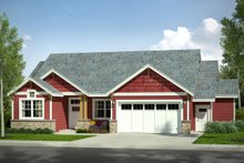 Home Plan - Craftsman Exterior - Front Elevation Plan #124-1025