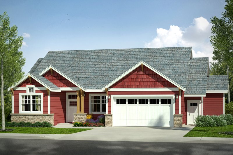 Craftsman Exterior - Front Elevation Plan #124-1025