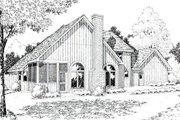 European Style House Plan - 3 Beds 2.5 Baths 2176 Sq/Ft Plan #312-222 Exterior - Rear Elevation