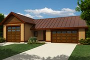 Bungalow Style House Plan - 0 Beds 1 Baths 1546 Sq/Ft Plan #118-131 Exterior - Front Elevation