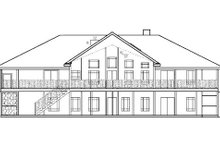 Home Plan - Country Exterior - Rear Elevation Plan #60-645