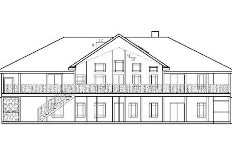 Country Exterior - Rear Elevation Plan #60-645 - Houseplans.com