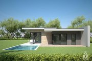 Modern Style House Plan - 3 Beds 2 Baths 1716 Sq/Ft Plan #552-4 Exterior - Outdoor Living