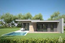House Plan Design - Modern Exterior - Outdoor Living Plan #552-4
