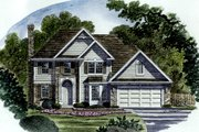 European Style House Plan - 3 Beds 2.5 Baths 1873 Sq/Ft Plan #316-116 Exterior - Other Elevation