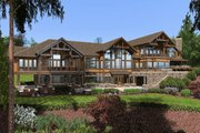 Craftsman Style House Plan - 4 Beds 6.5 Baths 9870 Sq/Ft Plan #132-215 Exterior - Rear Elevation