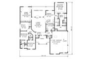 European Style House Plan - 3 Beds 2.5 Baths 2509 Sq/Ft Plan #65-520