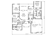 European Style House Plan - 3 Beds 2.5 Baths 2509 Sq/Ft Plan #65-520 Floor Plan - Main Floor Plan