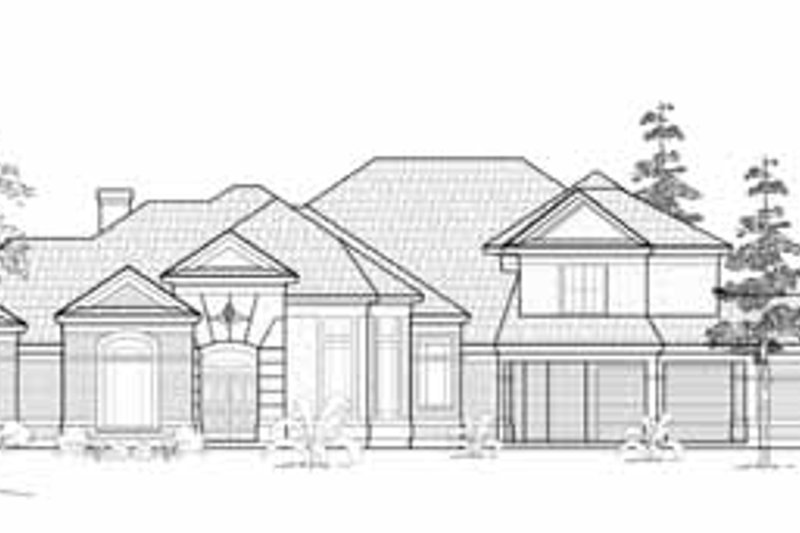 European Exterior - Front Elevation Plan #61-272 - Houseplans.com