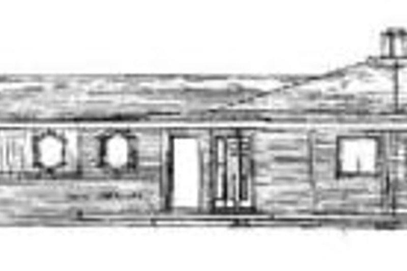 Modern Exterior - Rear Elevation Plan #60-111 - Houseplans.com