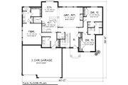 Ranch Style House Plan - 3 Beds 2.5 Baths 1971 Sq/Ft Plan #70-1116 Floor Plan - Main Floor