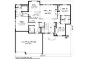Ranch Style House Plan - 3 Beds 2.5 Baths 1971 Sq/Ft Plan #70-1116