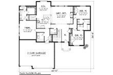 Ranch Floor Plan - Main Floor Plan Plan #70-1116