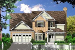 Architectural House Design - Traditional Exterior - Front Elevation Plan #40-133