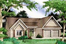 Dream House Plan - Country Exterior - Front Elevation Plan #405-163
