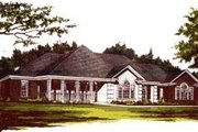 Traditional Style House Plan - 4 Beds 2 Baths 2298 Sq/Ft Plan #37-185 Exterior - Front Elevation