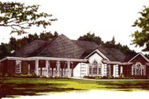 Traditional Exterior - Front Elevation Plan #37-185