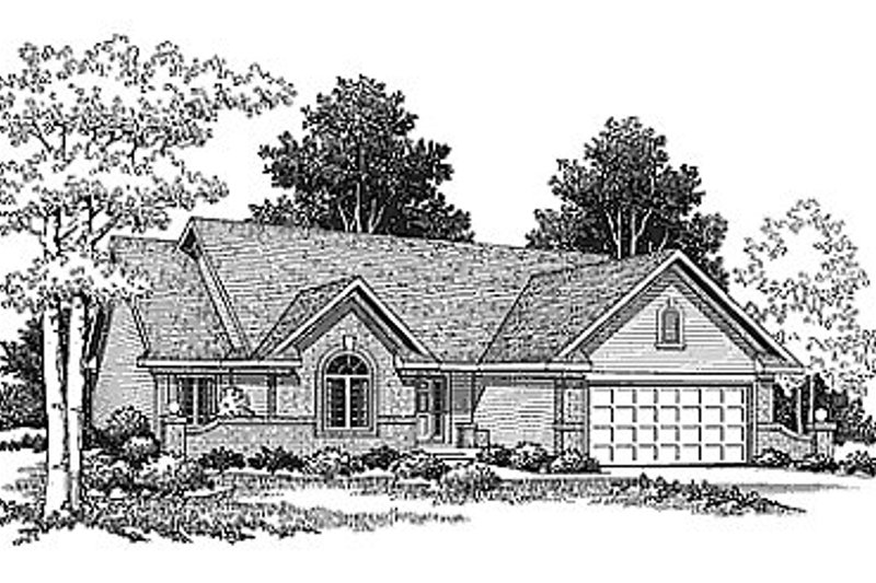Traditional Exterior - Front Elevation Plan #70-195 - Houseplans.com