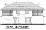 Traditional Style House Plan - 3 Beds 2.5 Baths 2918 Sq/Ft Plan #18-239 Exterior - Rear Elevation